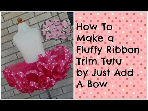 HOW TO: Make A Fluffy Ribbon Trim Tutu Minnie Mouse Theme Tutorial