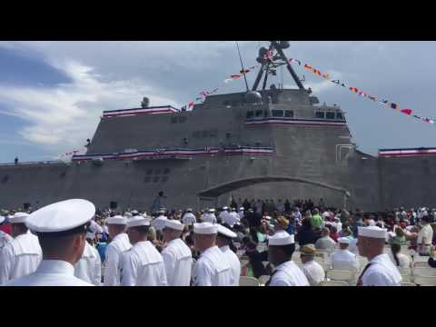"Austal USA - USS Montgomery (LCS 8) Commissioning ""Man our ship and bring her to life!"""