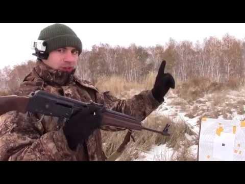 Сайга 7.62х39 Пристрелка открытого и оптического прицелов