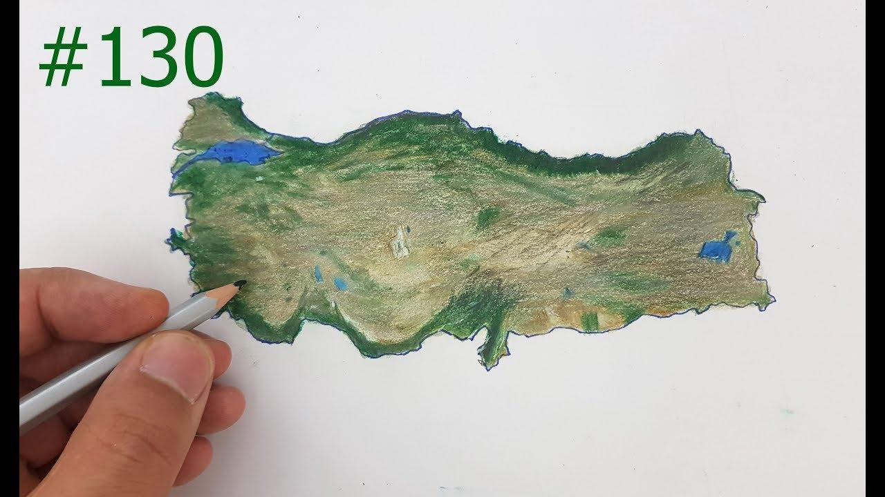 Turkiye Haritasi Nasil Cizilir Fiziki Harita Cizimi 2 Bolum 130