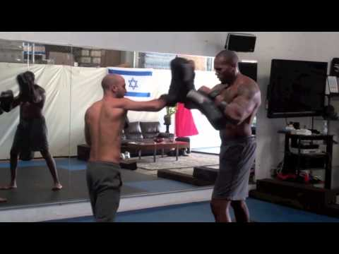 Roy Elghanayan Training WWE Hollywood Action Start Shad Gaspard At Krav Maga L.A. | REKM