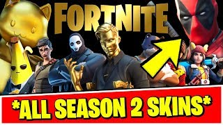 *ALL* SEASON 2 BATTLE PASS & ITEM SHOP SKINS LEAKED!! (Fortnite Chapter 2 - Season 2 SKINS)