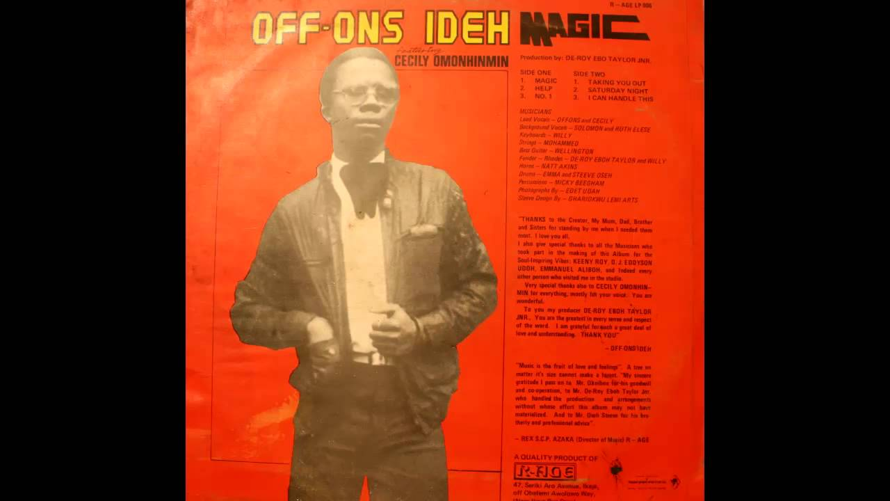 Off Ons Ideh - Magic (Rare 80's Boogie Synth Funk From Nigeria)