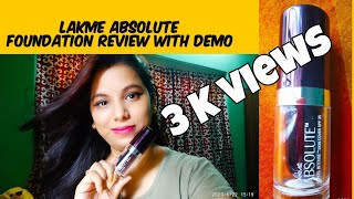 Lakme Absolute White Intense Foundation Skin Cover SPF 25 Honest Review amp Demo Divsmoda