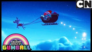 Richard Drives Santa's Sleigh | Gumball | Cartoon Network