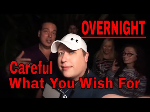 (HAUNTED CEMETERY AT 2AM) CAREFUL FOR WHAT YOU WISH FOR, IT MAY ACCEPT THE INVITE