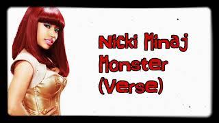 Nicki Minaj Monster Lyrics Verse