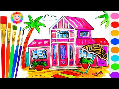 Thumbnail: Barbie Beach House Coloring Book - Educational Drawing and Coloring Art Video for Kids