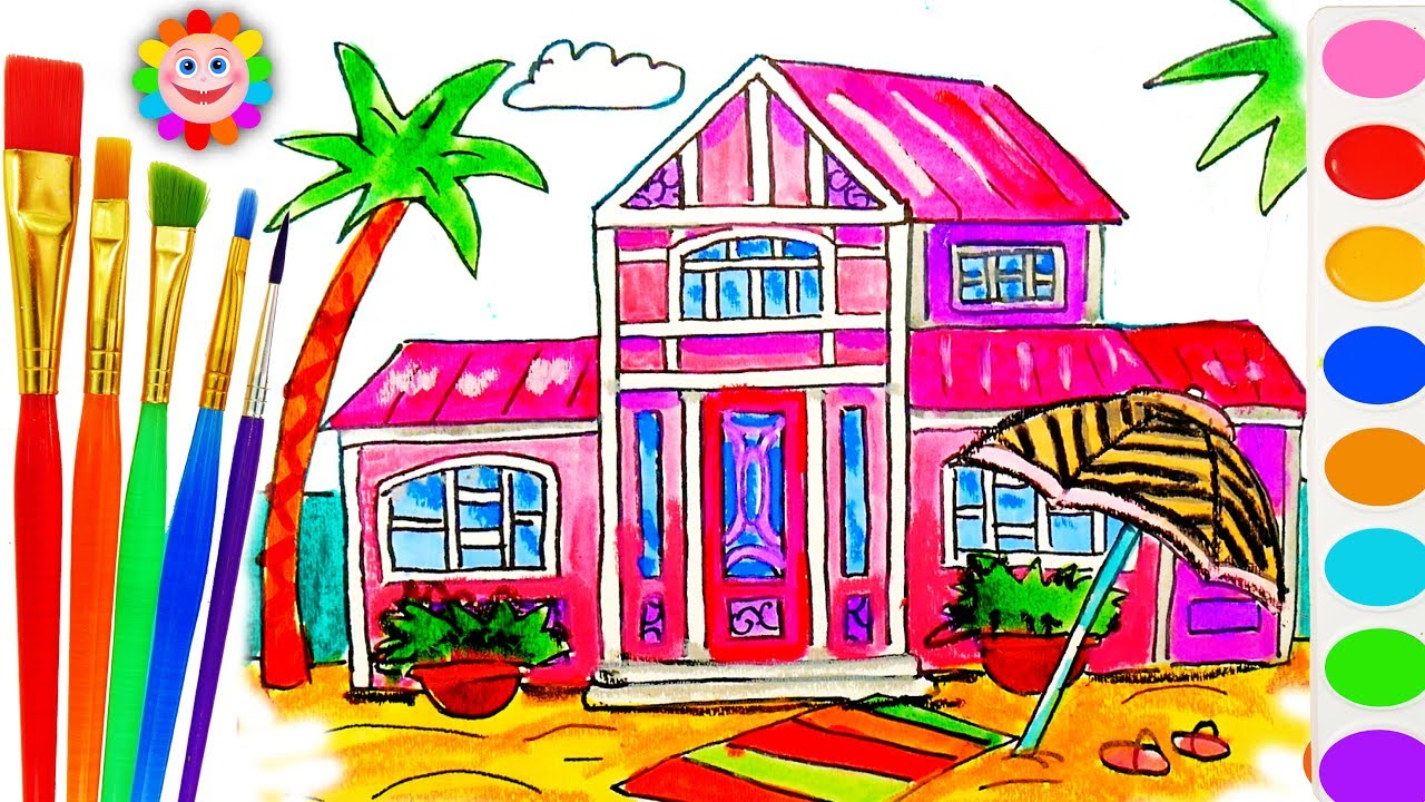 Barbie Beach House Coloring Book - Educational Drawing and Coloring ...