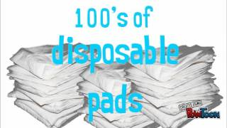 Lennypads - the washable dog potty pads trump disposables.
