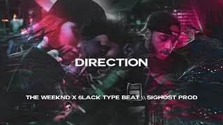 The Weeknd ft 6LACK Type Beat | DIRECTION | Rnb Soul Pop Instrumental Beat 2018
