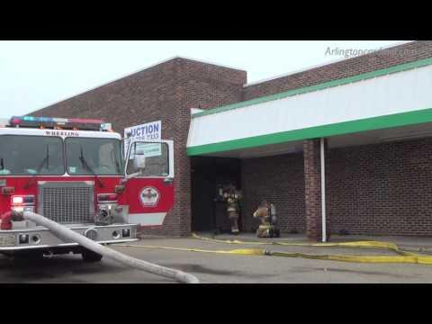 Fire at Former Garden Fresh Market Grocer Building on West Hintz Rd, Wheeling