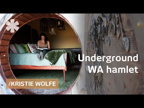 Kristie Wolfe builds underground home & sets rural WA hamlet