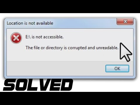 [SOLVED] - The File Or Directory Is Corrupted Or Unreadable - Hard Drive Wont Open