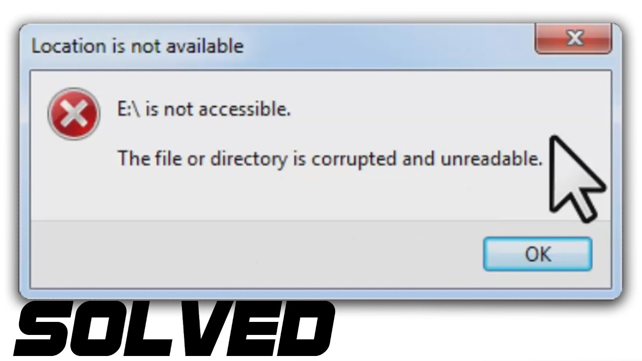 Solved The File Or Directory Is Corrupted Or Unreadable Hard