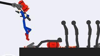 SUPERMEN vs Stickmans - Stickman Backflip Killer 3 / Fun Game For Kids Android Gameplay HD