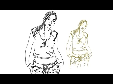 How to Draw a Beautiful Girl Standing Pose Cute simple ...