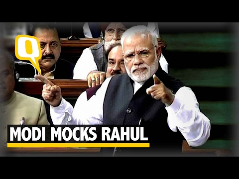 "The Quint: PM Modi Mocks Rahul Gandhi, Says ""Earthquake"" Has Finally Hit"