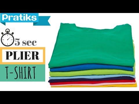 Comment plier un t-shirt en 5 secondes - Astuce Pratique