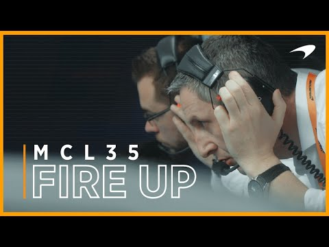 McLaren MCL35 fire up