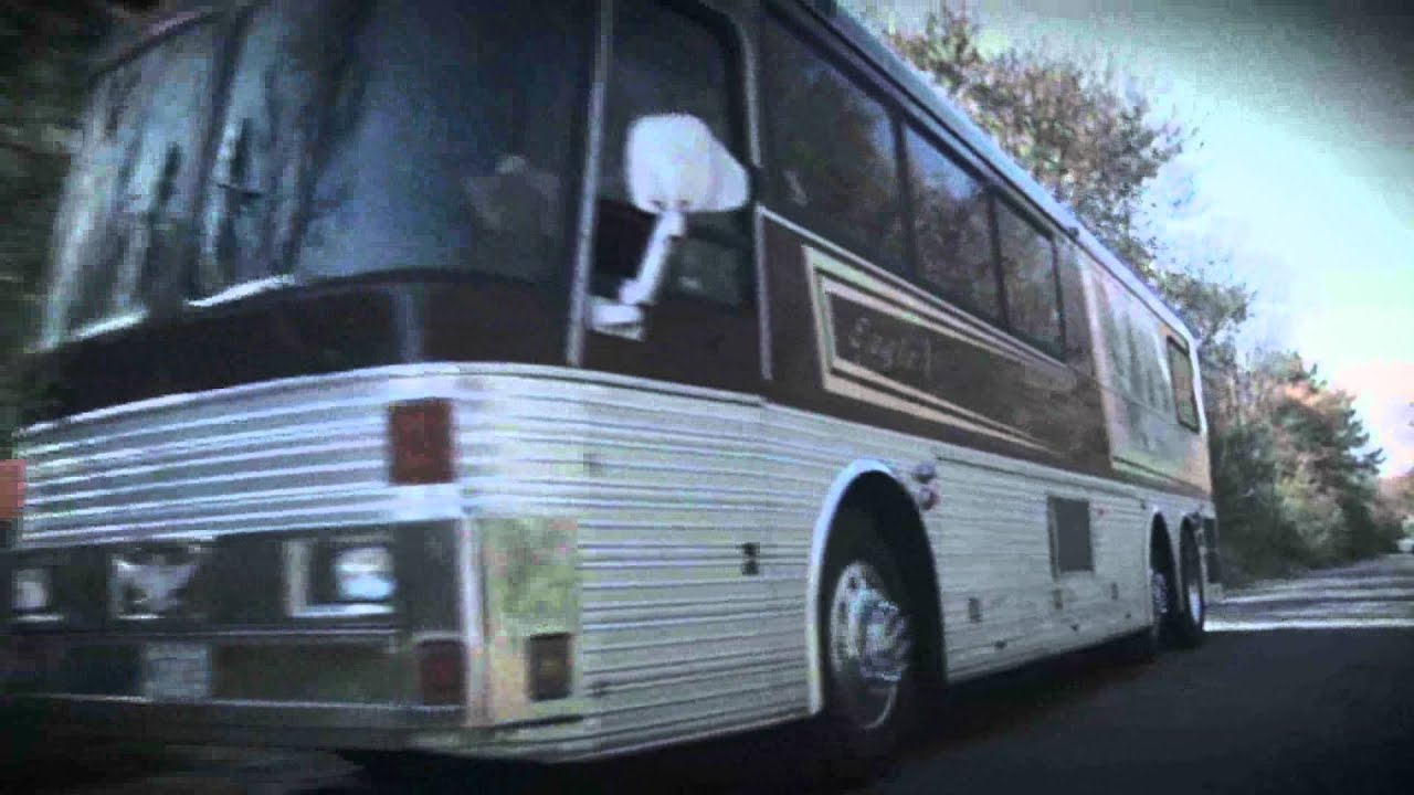 Classic tour bus used by Willie Nelson and his band hits ...