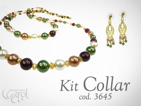 8ad2ed8f5534 Kit 3645 Kit collar perlas colores x und - YouTube