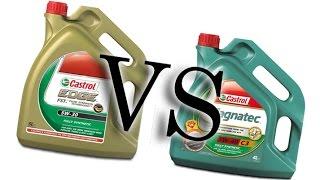 Castrol magnatec 5w40 vs Castrol edge titanium fst 5w30, cold oil test -24°C, castrol oil