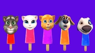 talking tom and friends finger family nursery rhymes collection   kids song
