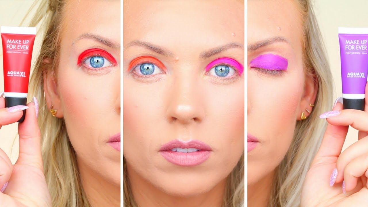 new make up for ever aqua xl color paints eye swatches review youtube. Black Bedroom Furniture Sets. Home Design Ideas