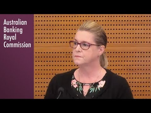 A Westpac financial planning customer testifies at the Banking Royal Commission