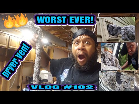 Carpet cleaning vlog Episode 102: THE WORST DRYER VENT CLEANING EVER|FIRE HAZARD|VERY DANGEROUS JOB