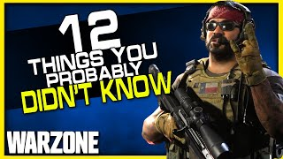 12 Warzone Tips you Probably Didn't Know! | (How to Get Better at Warzone!)