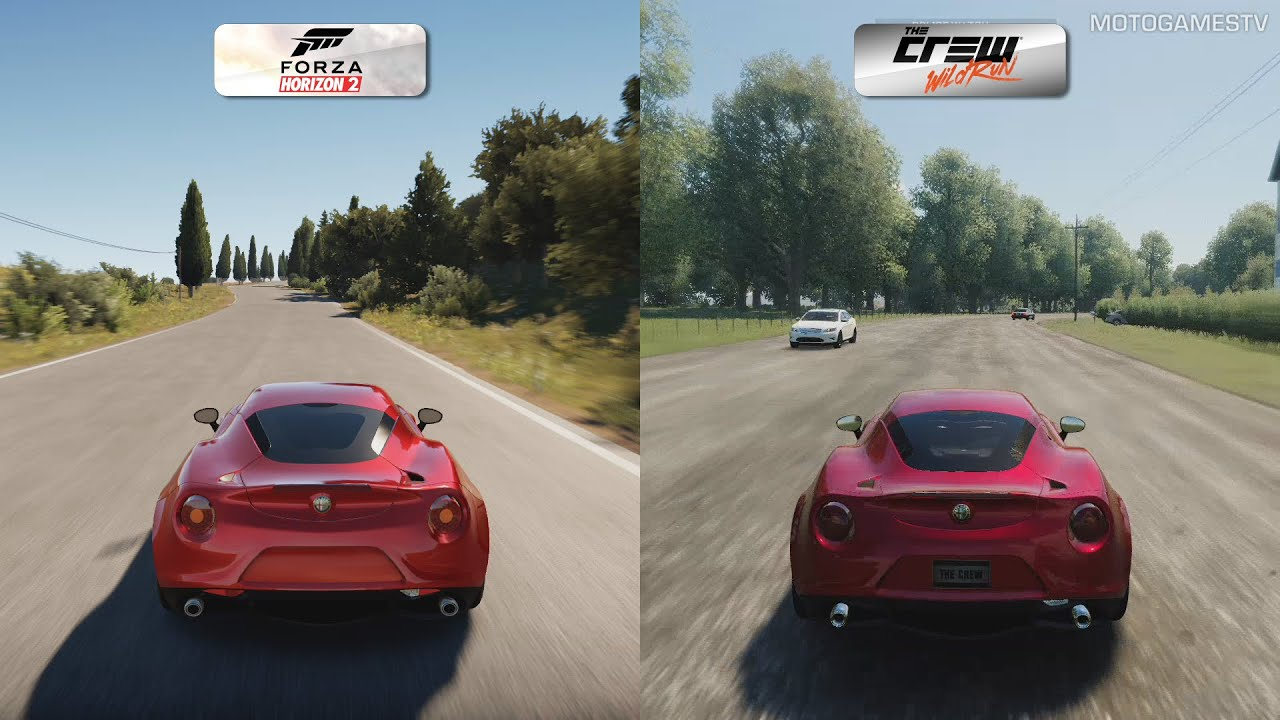 Forza Horizon 3 Wallpaper Hd Forza Horizon 2 Vs The Crew Wild Run Alfa Romeo 4c