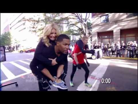 "The ""LIVE with Kelly and Michael"" Wife-Carrying Challenge"