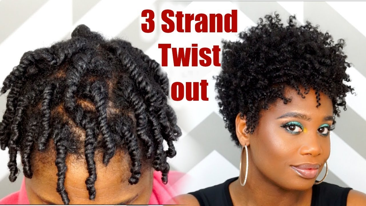 How To Do A 3 Strand Twist Out On Tapered Natural Hair Misskenk Youtube