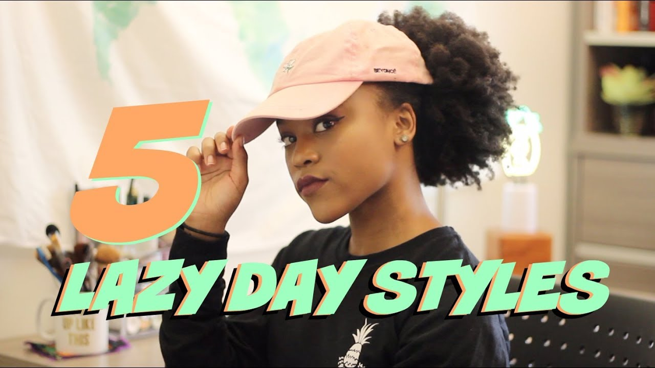 Day Hairstyles For Long Hair: 5 Lazy Day Natural Hairstyles For Long 4c Hair (As I Am