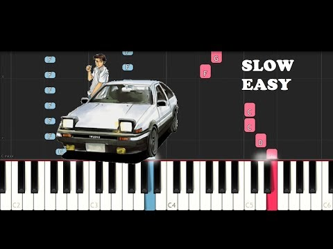 Running In The 90s (SLOW EASY PIANO TUTORIAL)