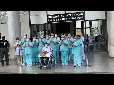 Brezilyalı 99 yaşındaki İkinci Dünya Savaşı gazisi Covid-19'a karşı verdiği mücadeleyi kazandı…