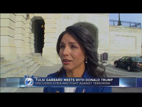 U.S. Rep. Gabbard meets with President-elect Trump, but not for job