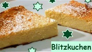 Blitzkuchen: Quarkkuchen ohne Boden, in 10 Minuten bereit für den Ofen!
