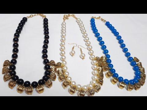 Antique Handmade Beads Jewellery with Earrings/ DIY Jewellery