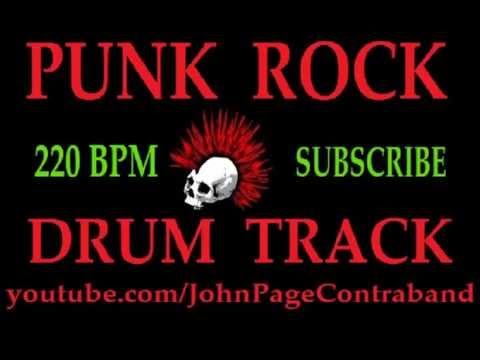 Punk Rock Drum Track Backing 220 BPM FREE Drums Only