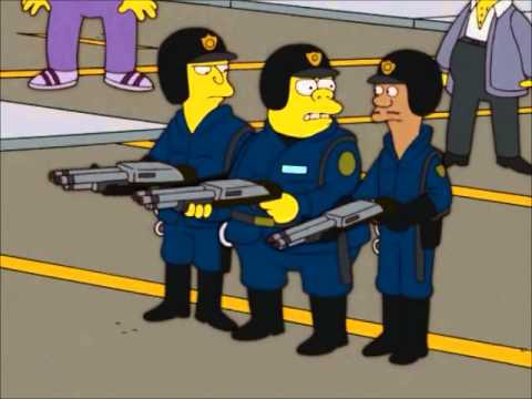 Simpsons police michael brown youtube - Police simpsons ...