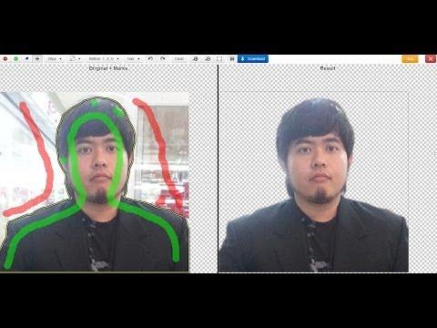 วิธีการตัดภาพพื้นหลังรูปภาพ