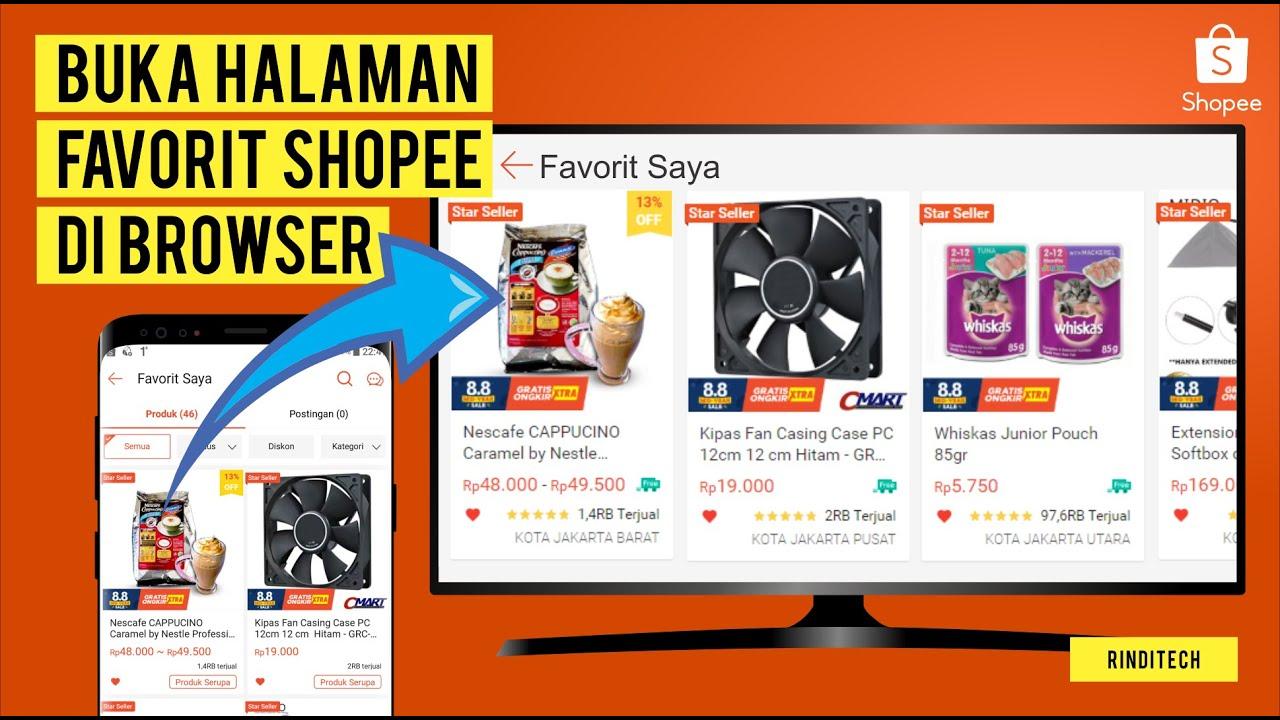Halaman Wishlist Shopee Bisakah Dibuka Di Pc Laptop Rindi Tech