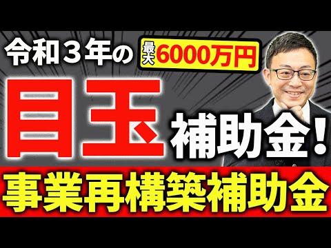 【必見!】最大6000万円の事業再構築補助金を簡潔に解説します!