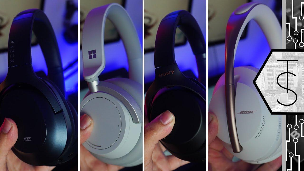 Who Makes The BEST ANC Headphones | Razer vs Microsoft vs Sony vs Bose!