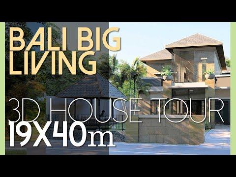 Desain Rumah yang Luas dan Asri di lahan 19x40m2 [kode 165]