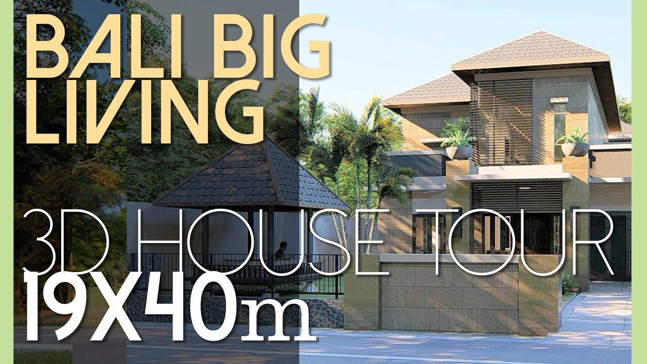 Desain Rumah Yang Luas Dan Asri Di Lahan 19x40m2 Kode 165 YouTube