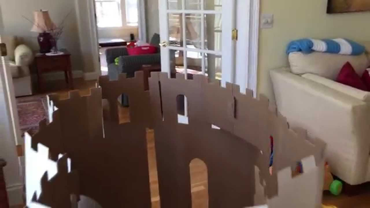 Easy playhouse castle review pre cut cardboard box for How to make a letterbox out of cardboard